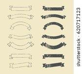 set of vintage ribbons. | Shutterstock .eps vector #620717123