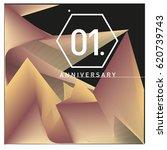 1 years anniversary celebration ... | Shutterstock .eps vector #620739743