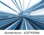 rail track and cityscape of... | Shutterstock . vector #620745086
