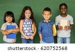 group of school kids reading... | Shutterstock . vector #620752568