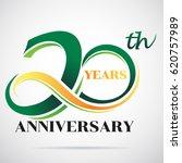 20 years anniversary... | Shutterstock .eps vector #620757989