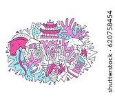 vector illustration of mongolia ... | Shutterstock .eps vector #620758454