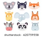 animals carnival mask vector... | Shutterstock .eps vector #620759558