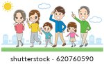 family is walking in the city | Shutterstock .eps vector #620760590
