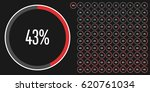 set of circle percentage... | Shutterstock .eps vector #620761034