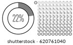 set of circle percentage... | Shutterstock .eps vector #620761040
