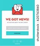 emailer newsletter signup... | Shutterstock .eps vector #620763860