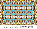 colorful horizontal ornament... | Shutterstock . vector #620765699