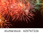 colorful red fireworks in the... | Shutterstock . vector #620767226