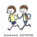 boys and girls  running   Shutterstock .eps vector #620769284
