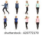 collection of full length... | Shutterstock . vector #620772170