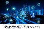 kuala lumpur city skyline at... | Shutterstock . vector #620779778