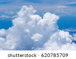 beautiful blue sky with clouds... | Shutterstock . vector #620785709