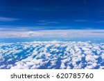 beautiful blue sky with clouds... | Shutterstock . vector #620785760