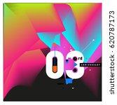 3 years anniversary celebration ... | Shutterstock .eps vector #620787173