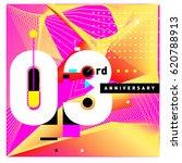 3 years anniversary celebration ...   Shutterstock .eps vector #620788913