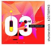3 years anniversary celebration ...   Shutterstock .eps vector #620788943