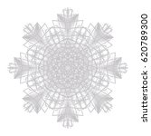 abstract rosette lace contour... | Shutterstock .eps vector #620789300