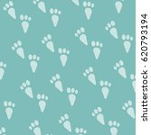 rabbit footprints pattern... | Shutterstock .eps vector #620793194