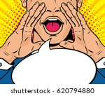 closeup of young surprised pop... | Shutterstock .eps vector #620794880