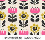 seamless floral pattern | Shutterstock .eps vector #620797520