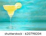 lemon margarita cocktail with a ... | Shutterstock . vector #620798204