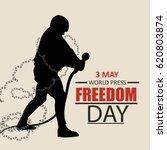 world press freedom day vector...   Shutterstock .eps vector #620803874