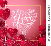 valentine hearts abstract...   Shutterstock . vector #620804354