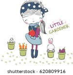 cute girl illustration.for... | Shutterstock .eps vector #620809916
