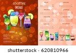 cocktail menu design template... | Shutterstock .eps vector #620810966