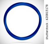abstract blue round frame on a... | Shutterstock . vector #620815178