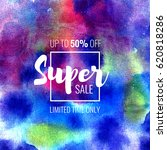 super sale up to 50 percent off.... | Shutterstock . vector #620818286