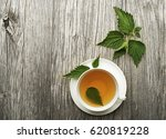 Cup Of Healthy Herbal Tea With...