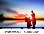 silhouette of a man  a woman  a ... | Shutterstock . vector #620819504