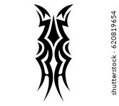 tattoo sketch tribal vector... | Shutterstock .eps vector #620819654