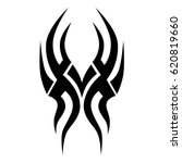 tattoo sketch tribal vector... | Shutterstock .eps vector #620819660