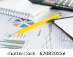 pencil yellow with business... | Shutterstock . vector #620820236