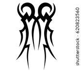 tattoo sketch tribal vector... | Shutterstock .eps vector #620823560