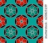 lotus flower seamless pattern.... | Shutterstock .eps vector #620825159