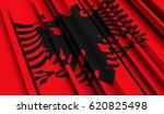 fragment flag of albania. 3d... | Shutterstock . vector #620825498
