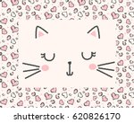 cute cat face illustration for... | Shutterstock .eps vector #620826170