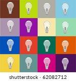 warhol light bulbs   Shutterstock .eps vector #62082712