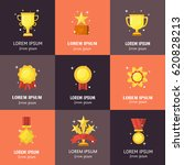 vector trophy  medals  cups and ... | Shutterstock .eps vector #620828213