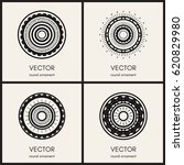 simple mandalas collection.... | Shutterstock .eps vector #620829980