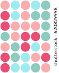 seamless polka dot pattern with ... | Shutterstock .eps vector #620829998