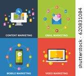 set of icons for mobile... | Shutterstock .eps vector #620831084
