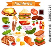 illustration of food and spice... | Shutterstock .eps vector #620833214
