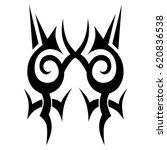 tattoo sketch tribal vector... | Shutterstock .eps vector #620836538