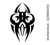 tattoo sketch tribal vector...   Shutterstock .eps vector #620836553