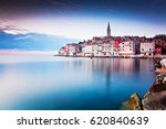 view of old town rovinj ... | Shutterstock . vector #620840639